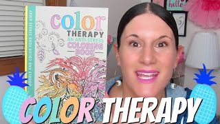 Color Therapy: An Anti-Stress Coloring Book by Cindy Wilde Grab a copy here: http://www.barnesandnoble.com/w/color-therapy-cindy-wilde/1121141874#productInfo...