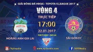 FULL | HOÀNG ANH GIA LAI vs SÀI GÒN (1-1) | VÒNG 4 V LEAGUE 2017
