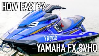 4. Yamaha FX SVHO 0-60 PWC Acceleration Test. How fast is a fast jet ski? EP#17