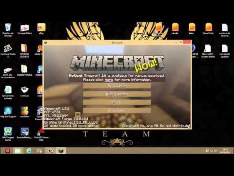 como descargar minecraft 1.5.2 para (windows 7,8,xp)