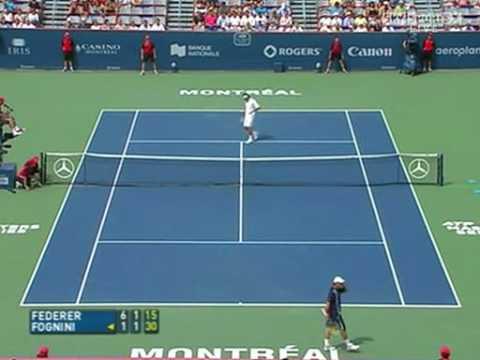 Roger Federer vs Fabio Fognini Montreal 2007