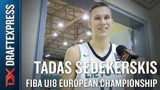 Tadas Sedekerskis 2015 FIBA U18 European Championship Interview
