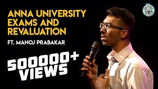 Anna University exams and revaluation! - Standup comedy by Manoj Prabakar