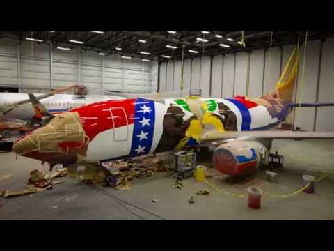 Watch an Airplane Gets Painted