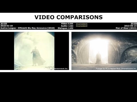 VIDEO COMPARISONS - Justice League - Official® Blu-Ray Announce [2018]