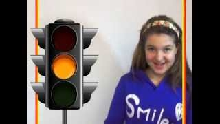 Песенка-запоминайка про светофор / Traffic light song.