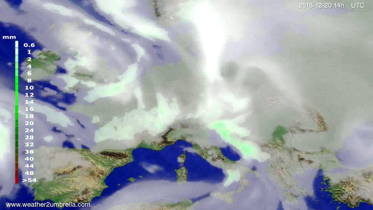 Precipitation forecast Europe 2018-12-16