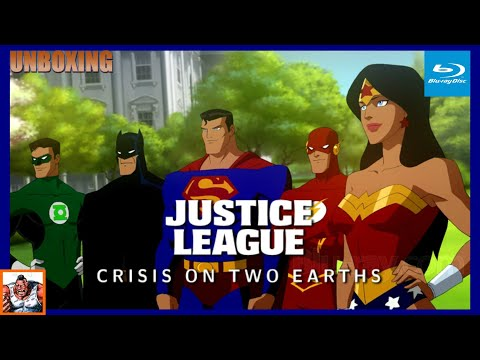 Justice League Crisis on Two Earths Best Buy Exclusive Gift Set Figure Blu ray Unboxing