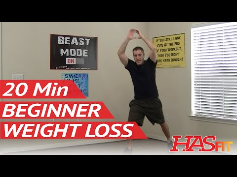 20 Min Beginner Workout for Weight Loss – HASfit Easy Exercises to Lose Weight Easy Workouts at Home