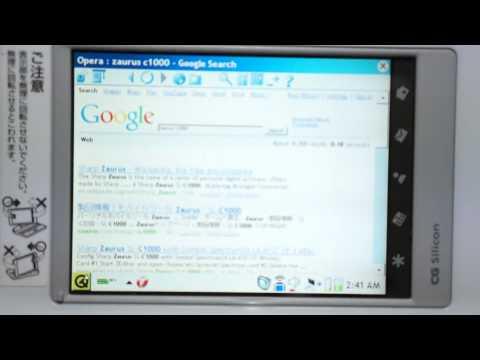 Sharp Zaurus SL-C760 Cacko 1.23 running Opera Browser
