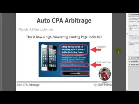 Auto Cpa Arbitrage WSO Review and Bonus