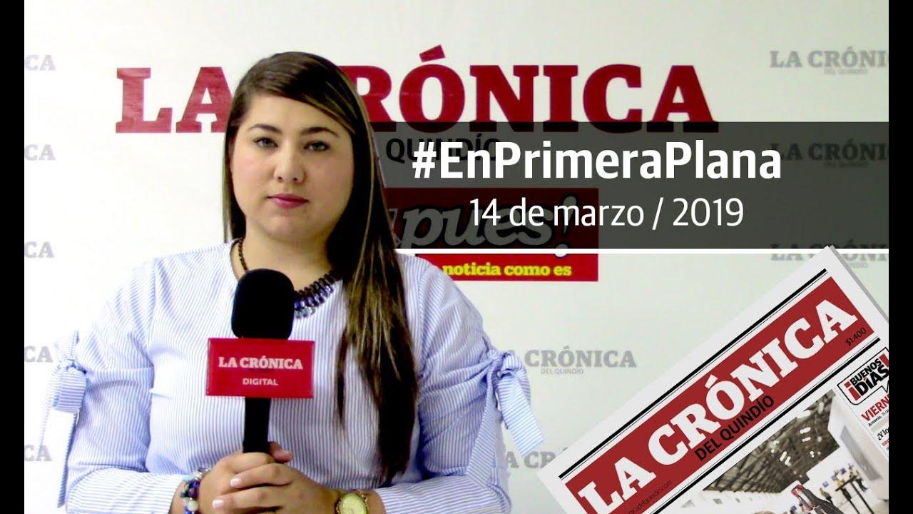 En Primera Plana: lo que será noticia este jueves 14 de marzo