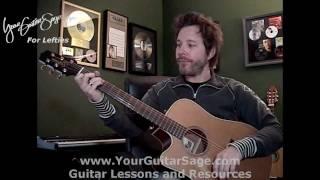Patience - Guns n Roses - Lefty Beginner Acoustic Guitar Lesson