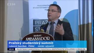 L. Zaorálek mluvil na Pražském studentském summitu