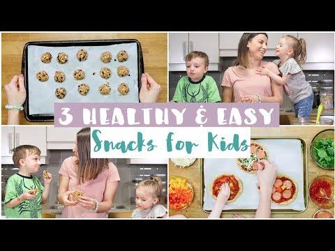3 EASY Healthy Kid Friendly Snacks | DIY Snacks for Kids