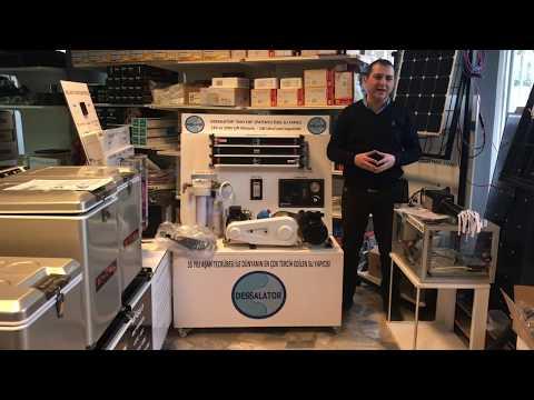 Oktay Önal, Dessalator markası'nın DUO100 model 12V ve 220V ile çalışan su yapıcı tanıtıyor.