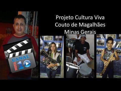 Junior Ernandes - visita Projeto Cultura Viva (Couto de Magalhães - MG)