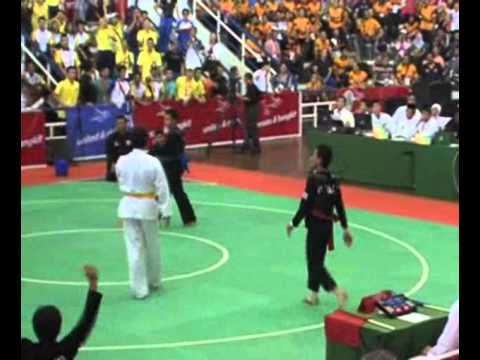 Pencak Silat match at Indonesia [Indonesia vs Thailand] 26th SEA Games 2011