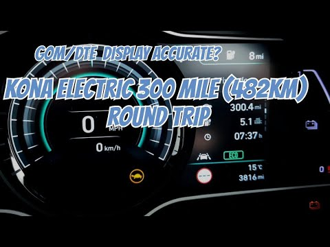 300 Mile Trip In A Kona Electric/ GoM DTE Software Update Concerns