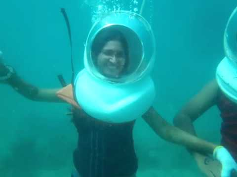 Under Sea Walking in Coral Island tour at Pattaya, Thailand