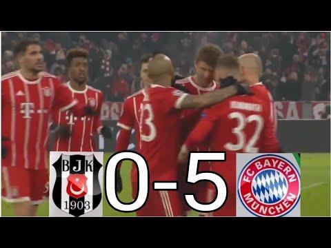 Bayern Munich vs Besiktas 5-0 All Goals & Extended Highlights 20/2/2918HD