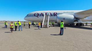 Windhoek Namibia  city photo : Qatar Airways Inaugural Flight to Windhoek, Namibia