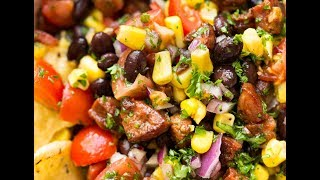 Make it, and you'll understand why it's called a Pig Out Salsa! ttp://www.recipetineats.com/chorizo-black-bean-and-corn-salsa/