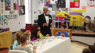 The Knife and Fork - Table Manners Class, Holly Academy 5th Grade