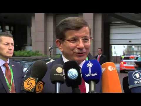 Δήλωση Αχμέτ Νταβούτογλου κατά την άφιξή του στη Σύνοδο Κορυφής της Ε.Ε. για το προσφυγικό