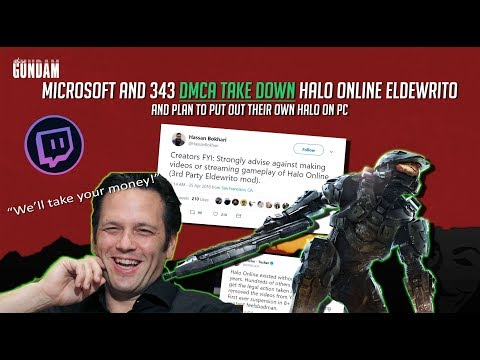 Microsoft and 343 DMCA take down Halo Online ElDewrito & have twitch streamers banned