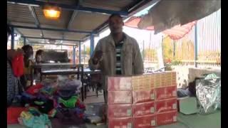 Clash Between Police And Illegal Cigarette Traders In Okuryangava