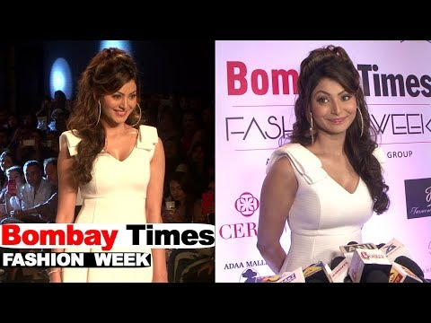 Urvashi Rautela Showstopper For Designer Tanushri BiyaniCeriz At Bombay Times Fashion Week 2018
