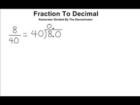 how to change decimal to fraction