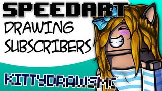 Minecraft SpeedArt - KittyDrawsMC [GoldSolace Draws Subscribers]