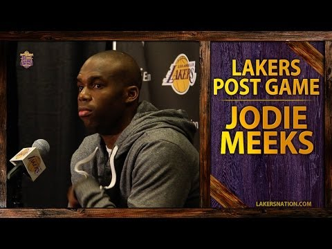 Video: Lakers vs. Thunder: Jodie Meeks After His Career-High 42 Point Game, Kobe's Mental Approach