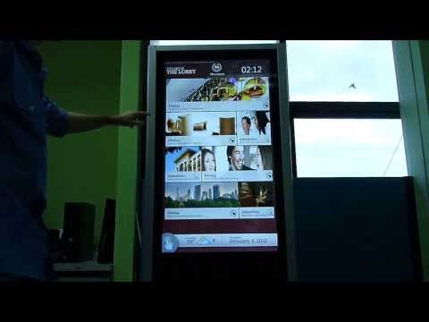 Sheraton Touch Interface - iNFOSignage software