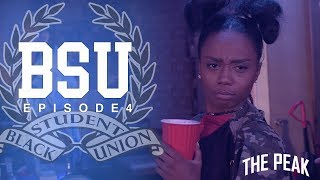 Episode 4: It's the day of the B.S.U.'s big fundraiser event and everyone is distracted by their own personal issues. Romie and Andre are on thin ice and Arielle tries to hide her secret tryst! About BSU:BSU (Black Student Union) is a comedic coming of age web series following a group of college students who are navigating the pitfalls of teenage self discovery, while simultaneously balancing the expectations to organize on behalf of current and future black students.