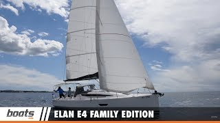 Explore the new 2017 Elan E4 Family Edition with boats.com reviewer Dieter Loibner. There's no roughing it on this yacht—this design includes twin rudders and twin wheels, along with teak surfaces, a bimini, a fold down swim platform, an adjustable display and much, much more.RELATED VIDEOS & PLAYLISTS:Elan GT5: Video Boat Review - https://youtu.be/TnOO4eO2JX4Elan GT5: First Look Video - https://youtu.be/M4tRJbgv78cSailboats and Sailing Boats - https://youtu.be/M4tRJbgv78cBoat Review / Performance Test - https://www.youtube.com/playlist?list=PL05F14609E2F696DFSubscribe to our boats.com channel: https://www.youtube.com/user/boatsdotcomFor more boating videos, visit http://www.boats.com.boats.com features boat reviews, how-to videos, special features, and information about new boats, boats for sale, and boating products—usually with a dash of fun.Our reviewers test the features, performance, and specifications of each boat, searching out the hidden details for a critical evaluation. If you're shopping for a boat, we want to help you make the best choice. And if you're just looking, we'll try to make it fun too. Subscribe to receive notification of new videos.