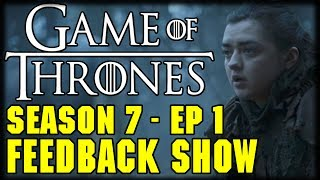 "Game of Thrones Season 7 Episode 1""Dragonstone"" Feedback ShowWe are joined by The walking David to take you Game of Thrones Feedback for Episode 1 of Season 7 DragonstoneCheck out The walking David on youtube https://www.youtube.com/channel/UChqo8RuAZvw5bF04NXCzdsw---Please Subscribe: https://www.youtube.com/user/theissuesguystuff?sub_confirmation=1To help us Keep going and create more content please consider:Supporting the channel on Patreon: https://www.patreon.com/philtheissuesguyDonating:  https://youtube.streamlabs.com/philtheissuesguyor directly on Paypal:  https://www.paypal.me/PhiltheissuesguyCheck out your favorite Shows Playlist! https://www.youtube.com/user/theissuesguystuff/playlistsSubscribe to our podcasthttp://issuesprogram.com/itunes/https://itunes.apple.com/us/podcast/phils-recap-and-review-with-phil-theissuesguy-podcast/id943187265?mt=2Thanks for the support!---Please use our offers and link for free stuff and deal! http://www.audibletrial.com/Issues to sign up for 30 free days of Audible and get a free book! It helps us out BiG TIMEl! :)To get 30 days free with 1 games out on Gamefly sign up with the link: http://gameflyoffer.com/issuesSign up LootCrate! http://www.trylootcrate.com/issuesJoin the Record of the Month club: http://joinvmp.com/issues----Stay connected!Discord: https://discord.gg/0upUVdagXcUuzbfGGoogle Community: https://plus.google.com/u/0/communities/116286288385889495387Songs Used on the Show:  https://soundcloud.com/user-521817999And for more check out : http://Issuesprogram.com and our sisters channel http://youtube.com/dirtyissues for more fun!And If you have any questions or anything Call/Text 781 990 8509- 24/7Tweet @igotissuesmanor email igotissuesman@gmail.comThanks!http://issuesprogram.comhttps://twitter.com/igotissuesmanhttps://www.facebook.com/theissuesguyhttps://twitter.com/dirtylockzPartners/Associations Land Of ESH : http://www.electricsistahood.com http://www.youtube.com/dirtyissuesG4 Comic Etc: http://www.g4comicsetc.comWant to send us something Phil TheIssuesGuyP.O. Box 236 Marblehead, MA 01945------------------------------------------------------------------------------------------------------------------------------------------------------------------------Game of Thrones is an American fantasy drama television series created by David Benioff and D. B. Weiss. It is an adaptation of A Song of Ice and Fire, George R. R. Martin's series of fantasy novels, the first of which is titled A Game of Thrones."