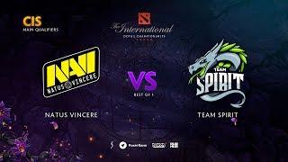 Natus Vincere vs Team Spirit, TI9 Qualifiers CIS, bo1 [Maelstorm & Smile]