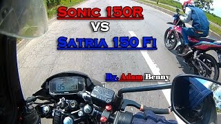Hot! Sonic 150R VS Satria 150 Fi Drag Racing (201m, 402m, & 1000m) - ADAM BENNY