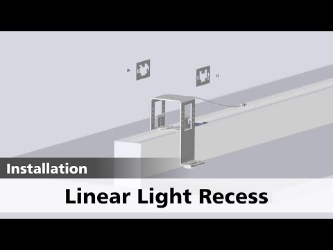 Linear Light Recess Installation