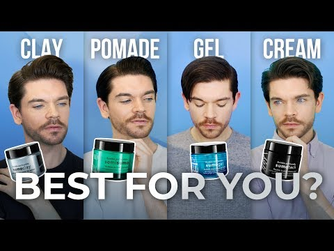 Clay, Pomade, Gel or Cream?   Men's Hair Product Guide