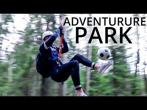 Tobias i klatreparken