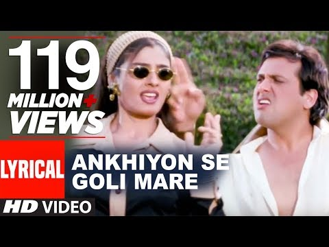 Download Ankhiyon Se Goli Mare Lyrical Video | Dulhe Raja | Sonu Nigam | Govinda, Raveena Tandon HD Mp4 3GP Video and MP3