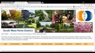 Community Communications Hub Website Overview