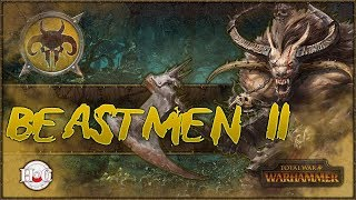 """Total War Warhammer - Beastmen Campaign - 11Icons of Vilification and the march to Bretonnia. Enjoy!MSI:https://us.msi.com/#DragonSquadLike my new Channel branding? Check out https://twitter.com/hforhavocSomething stirs in the deep dark forests of The Old World. Between the twisted trunks, the Beastlords grow restless with an all-consuming battle-thirst. They gather to them great Warherds of barbarous, bestial fiends, forged in the Time of Chaos; dark amalgams of human intelligence, animal cunning and raw, reckless ferocity. http://store.steampowered.com/app/404012/""""Our rules have changed. The only constant is WAR!The Old World echoes to the clamour of ceaseless battle… A fantasy strategy game of legendary proportions, Total War: WARHAMMER combines an addictive turn-based campaign of epic empire-building with explosive, colossal, real-time battles, set in the brooding and bloody world of Warhammer Fantasy Battles.Command four wholly different races: the Empire, the Dwarfs, the Vampire Counts and the Greenskins, each with their own unique characters, battlefield units and play style.Lead your forces to war as one of eight Legendary Lords from the Warhammer Fantasy Battles World, arming them with fabled weapons, armour and deadly battle magic; hard-won in individual quest chains.For the first time in a Total War game, harness storms of magical power to aid you in battle and take to the skies with flying creatures, from ferocious dragons and wyverns to gigantic griffons.Hundreds of hours of gameplay await you at the dawn of a new era. Total War: WARHAMMER brings to life a world of legendary heroes, towering monsters, flying creatures, storms of magical power and regiments of nightmarish warriors.""""Thank you to Sega and Creative Assembly for allowing me to have a review copy and post this video. For official news and videos please see the links below. This video doesn't represent any official news or opinions. Official Website:https://www.totalwar.com/Total War YouTube O"""