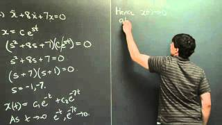 Homogeneous Constant Coefficient Equations: Real Roots | MIT 18.03SC Differential Equations