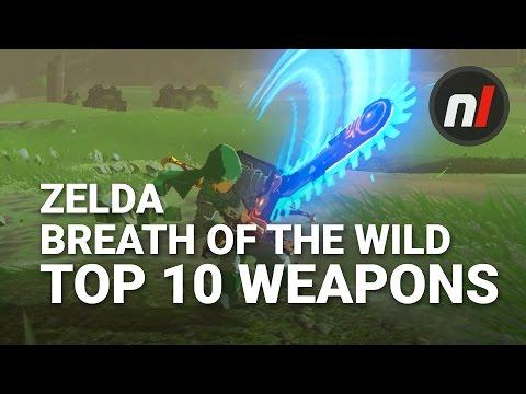 Top Ten Weapons in The Legend of Zelda: Breath of the Wild with Arekkz Gaming (видео)