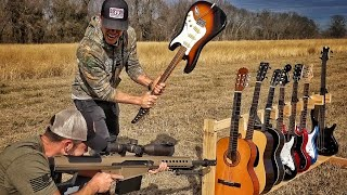 Download Video How Many Guitars Does It Take To Stop a 50BMG??? MP3 3GP MP4